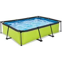 EXIT Lime Pool mit Filterpumpe - grün 300x200x65cm