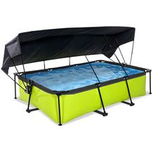 EXIT Lime Pool mit Sonnensegel und Filterpumpe - grün 300x200x65cm