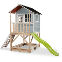 EXIT Loft 500 Holzspielhaus - blau