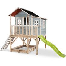 EXIT Loft 550 Holzspielhaus - blau