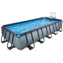 EXIT Stone Pool mit Sandfilterpumpe - grau 400x200x100cm