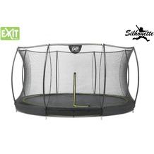 EXIT Silhouette Bodentrampolin mit Sicherheitsnetz - schwarz ø366cm