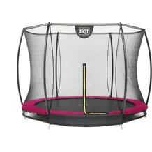 EXIT Silhouette Bodentrampolin mit Sicherheitsnetz - rosa ø366cm