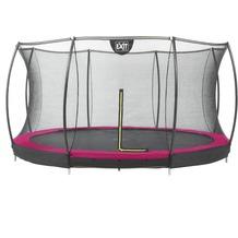 EXIT Silhouette Bodentrampolin mit Sicherheitsnetz Pink ø183cm (6ft)