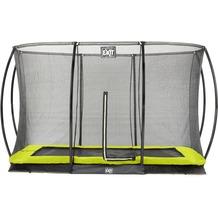 EXIT Silhouette Ground Trampolin Rechteckig mit Sicherheitsnetz Limette 214x305cm (7x10ft)