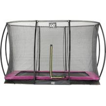EXIT Silhouette Bodentrampolin mit Sicherheitsnetz - rosa 244x366cm