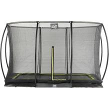 EXIT Silhouette Ground Trampolin Rechteckig mit Sicherheitsnetz Schwarz 214x305cm (7x10ft)