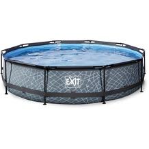EXIT Steinfarbener Pool ø360x76cm mit Filterpumpe - Grau