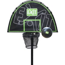 EXIT Trampolin Basketballkorb mit Schaumstoff-Ball