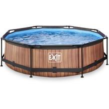 EXIT Wood Pool mit Filterpumpe - braun 300x200x65cm