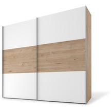 Express Möbel Schwebetürenschrank SWIFT 2-türig, Jackson-Eiche Nb. und Polarweiss Dekor 216 x 250 x 68 + Zubehör