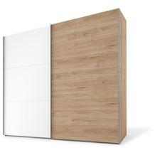 Express Möbel Schwebetürenschrank SWIFT 2-türig, Jackson-Eiche Nb. und Polarweiss Dekor W/H 216x200x68 + Zubehör