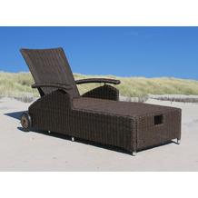 Famous Home Gartenliege Liegestuhl Sonnenliege  Relaxliege Lanzarote Premium Ibiza -  Braun braun