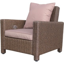 Famous Home Rattan Lounge Loungesessel 86cm Sessel  Sofa Relaxsessel Schlafsessel Braun Braun