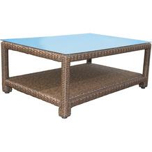 Famous Home Rattan Lounge Tisch 120x80cm Couchtisch  Beistelltisch Braun Braun
