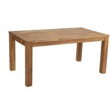 Famous Home Rustikaler Akazien Holztisch 160x90 cm  Esstisch Gartentisch mit Schutzhülle  Natur braun