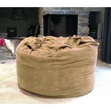Famous Home TCHILLA Cord Sitzsack Kinder Sand 110cm  Memory Schaum Sand