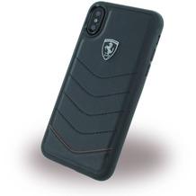 Ferrari Heritage Quilted, Leder Hardcover, Apple iPhone X, Schwarz