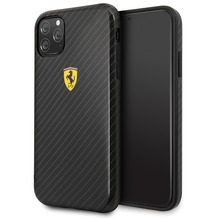 Ferrari On Track - Apple iPhone 11 Pro - Schwarz - Carbon Effect - Hard Cover - Case - Schutzhülle