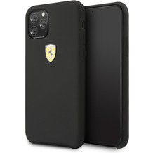 Ferrari On Track - SF - Silikon Case W Logo Shield - Apple iPhone 11 Pro Max - Schwarz - Schutzhülle Hülle Handyhülle