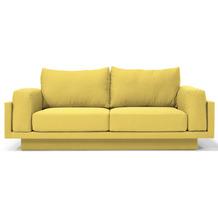 FEYDOM CLOUD-B ALVEARE 2.5 Sitzer Sofa Schlafsofa Day.Bed, Webstoff Gelb