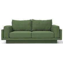 FEYDOM CLOUD-B ALVEARE 2.5 Sitzer Sofa Schlafsofa Day.Bed, Webstoff Piniengrün