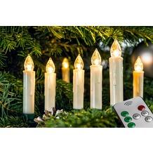 FHS LED Christbaumkerzenset mit 20 kabellosen Kerzen, innenbereich