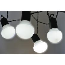 FHS LED Lichterkette - 20 Kugeln - weiß - Innen & Außenbereich