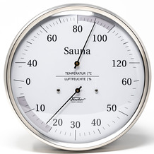 Fischer Messtechnik Sauna-Thermohygrometer 160 mm