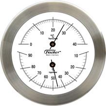 Fischer Messtechnik Thermohygrometer Edelstahl matt