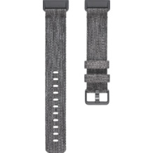 FitBit Charge 3, Accessory Band, Woven, Charcoal, Large
