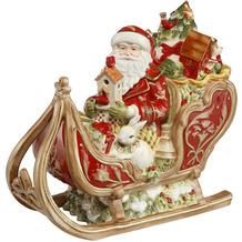 Fitz & Floyd Dose Santa auf Schlitten 34,0 cm