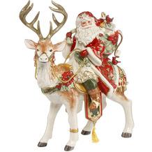 Fitz & Floyd Figur Santa auf Hirsch 33 x 41,5 cm