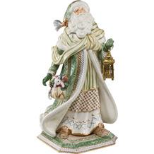 Fitz & Floyd Figur Santa im grünen Mantel 52,0 cm