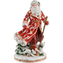 Fitz & Floyd Figur Santa im roten Mantel 47,5 cm