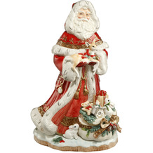Fitz & Floyd Fitz&Floyd Figur Santa mit Geschenkesack vorne 49,0 cm
