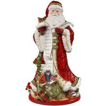 Fitz & Floyd Figur Santa mit Schriftrolle 48,0 cm
