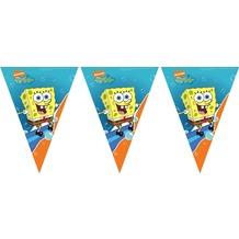 "PROCOS Flaggenbanner mit Motiv ""SpongeBob Surfing"", 11 Flaggen"