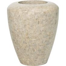 fleur ami Blumentopf innen Geo, 60/70 cm, cappuccino marble