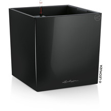 fleur ami CUBE Pflanzgefäß Komplett-Set, 30x30/30 cm, schwarz