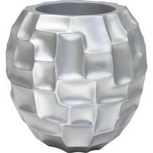 fleur ami MOSAIC Tischgefäß, 30/30 cm, silber metallic