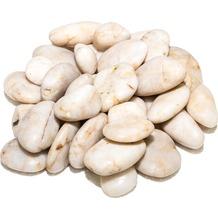 TINGO LIVING ROCKS Flusskiesel, 2-4 cm, weiß, 5 kg