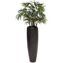 fleur ami SETS PREMIUM, Loft 31/100 cm black iron, RHAPIS PALME DELUXE Kunstpflanze, 100 cm