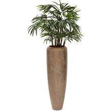fleur ami SETS PREMIUM, LOFT , 31/100 cm, verdigris bronze, RHAPIS PALME DELUXE Kunstpflanze, 100 cm