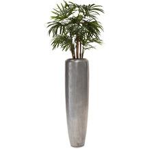 fleur ami SETS PREMIUM, Loft 32/120 cm aluminium, RHAPIS PALME DELUXE Kunstpflanze, 100 cm