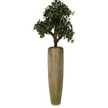 fleur ami SETS PREMIUM, LOFT , 32/120 cm, verdigris bronze, RHAPIS PALME DELUXE Kunstpflanze, 100cm