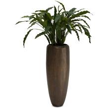 fleur ami SETS PREMIUM, Loft, Pflanzgefaess, 30/80 cm verigris bronze, CALATHEA Kunstpflanze, 85 cm