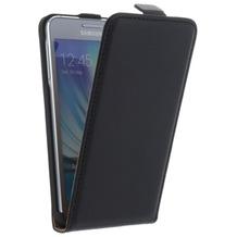 Flip-Style Kunstleder Tasche Vertikal mit Halterung für Samsung Galaxy A7 (2016) - Schwarz