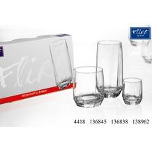 Flirt by R&B 3er Long Drink Glas eckig 39cl klar