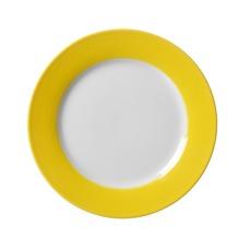 Flirt by R&B Dessertteller Porzellan 20x20x2cm rund DOPPIO gelb